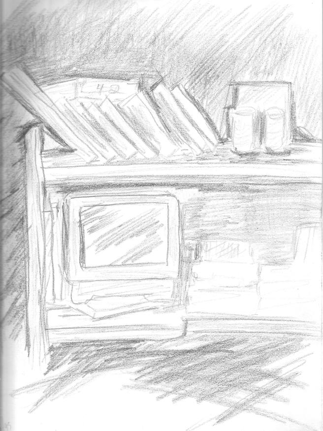 desk sketch by WREADITOR